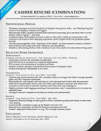 cashier combination resume sample cashier customer service resume image customer service example of cashier resume