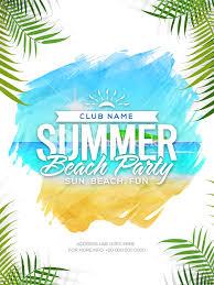 Beach Flyer Summer Beach Party Template Summer Vacation Flyer Musical Party