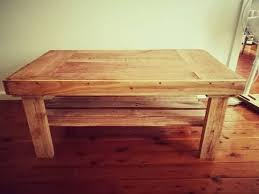 coffee table from hardwood pallet