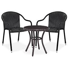 outdoor arm chair. Aldo Outdoor Café Table And 2 Arm Chairs - Brown Chair