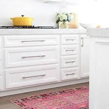 white kitchen cabinet hardware. Pink Kitchen Kilim Runner White Cabinet Hardware