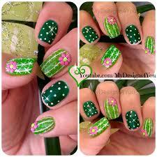 Easy Summer Nail Art Fun Cactus Nail Art Easy Summer Nails Nails Makeuptalk