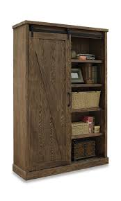 avondale barndoor bookcase brown