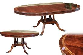 american finished 60 to 82 inch round mahogany pedestal table