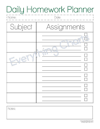 The Daily Homework Planner Is A Great Way For Kids To Stay Organized