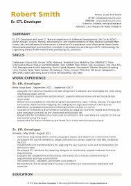 Etl Developer Resume