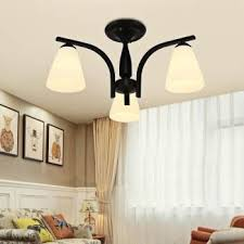 american style iron art bedroom ceiling lamp living room ceiling light led chandelier malaysia