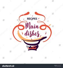 Royalty Free Stock Illustration Of Handdrawn Template Logo Food