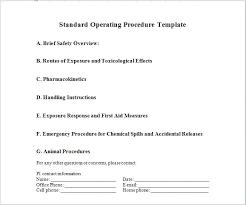 Sop Templates Impressive Printable Sop Templates Production Support Document Template