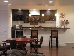 ... Small Bar Design Ideas : Inspiration Small Home Bar Table Design With  Dark Brown Cabinetry Plus ...