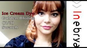 Golden Blonde 7 3 Swatch Inebrya Ice Cream Dye