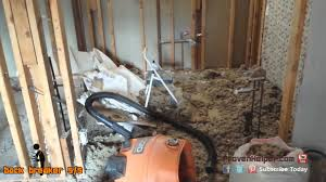 Bathroom Remodeling Removing A Ceiling With Blown Cellulose - Insulating a bathroom
