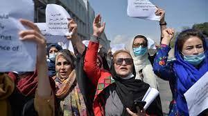 Frauen-Demo in Kabul ...