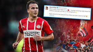 Holland-Presse, PSV-Fans und Mitspieler: Eindhoven feiert Mario Götze nach  Champions-League-Gala - Sportbuzzer.de