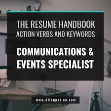 The Curriculum Vitae Handbook Amazing The Resume Handbook Communications Events Specialist Resume