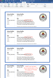 Ticket Event Template Tickets 50 Raffle In Tickets Raffle Create Word Printable