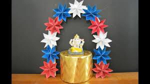 ganpati decoration idea for home ganpati makhar eco friendly craft diy