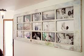 an old door turned into a photo frame for home display i love this