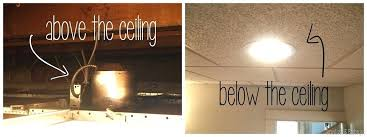 ideas for recessed lighting. Drop Ceiling Lighting 511 How To Put A Light Fixture In Ideas Recessed For