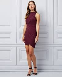 <b>Pleated Knit</b> Wrap-Like Dress | LE CHÂTEAU