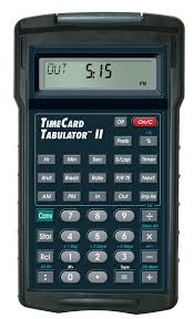 Payroll Time Calculator Calculated Industries Used Timecard Tabulator Ii 9530 Time