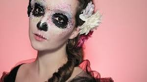 colourful easy skull makeup tutorial