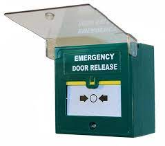 green emergency break glass unit
