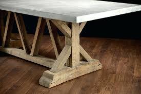 pine trestle table concrete and reclaimed trestle base dining table reclaimed pine trestle dining table unique