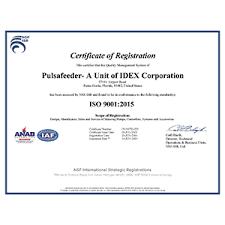 Certifications Pulsafeeder Spo Inc