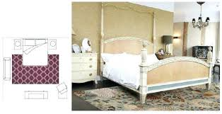 placement of area rugs in bedroom bedrooms pictures