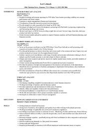 Forecast Analyst Resume Samples Velvet Jobs
