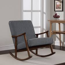 granite grey fabric retro wooden rocker chair ping great deals on living room chairs