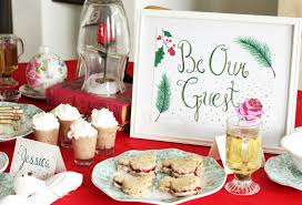 Disney - inspired Beauty & the Beast Holiday Tea Party Ideas and Inspiration