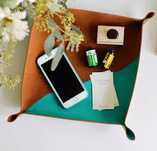 creative diy mothers day gifts ideas diy cross stitch leather catchall thoughtful homemade gifts