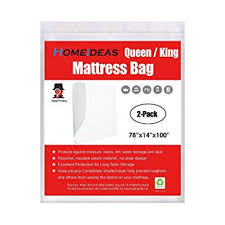 Amazon.com: HOMEIDEAS 3 Mil Thick Mattress Bag for Moving and ...