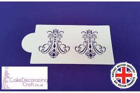 chandelier motif air brush stenciling cake and cupcake decorating craft tool