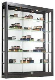 3x4 wall mounted display case w slider