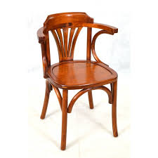a bentwood arm chair with a solid seat and traditional polished finish loading zoom