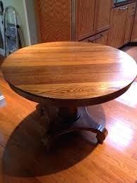 antique round oak dining table tiger pedestal