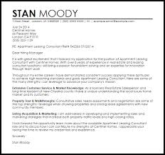 Apartment Leasing Consultant Cover Letter Sample Cover Letter