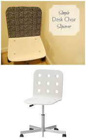 simple ikea desk chair slipcover