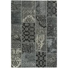5 x 8 medium silver and black area rug cosmic patchwork rc willey furniture