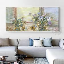 abstract flower painting canvas