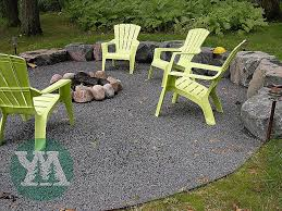 corrugated steel fire pit ring elegant crushed stone around a firepit c should have saved all