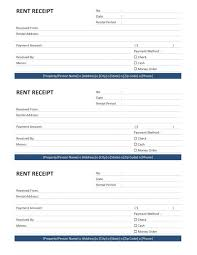 rent receipt format word home house slip room xianning it