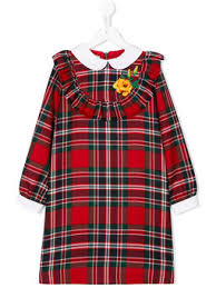gucci youth. checked long sleeve dress gucci youth r