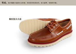 deep mouth boat shoes men shoes leather italian mens shoes brands cowhide modern heavy bottomed durable