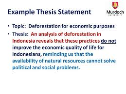 outlining check your thesis statement is it an actual 4 example thesis statement topic