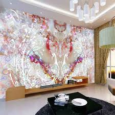 Nature & Animal Peacock DIY 3d Wallpaper Wall Mural Rolls Abstract & Art  Hotel Kindergarten Playground Living Room Decor-in Wallpapers from Home  Improvement ...
