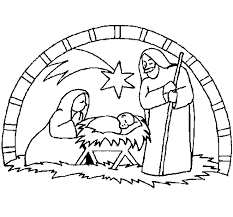 Christmas Nativity Coloring Page Coloringcrewcom